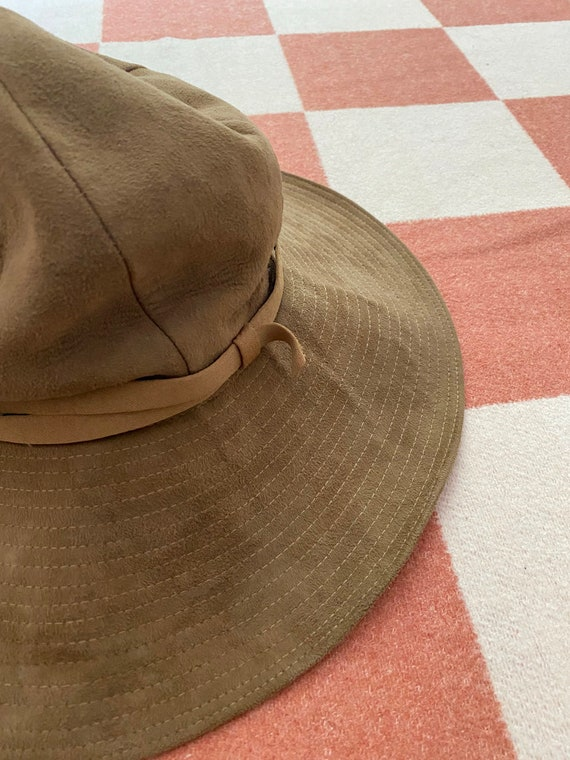 70's Wide Brim Suede Hat - image 2