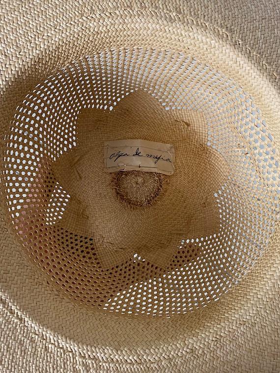 1940s Straw Wide Brim Hat - image 7