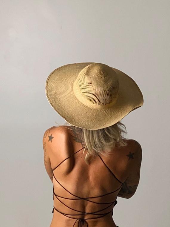 1940s Straw Wide Brim Hat - image 4