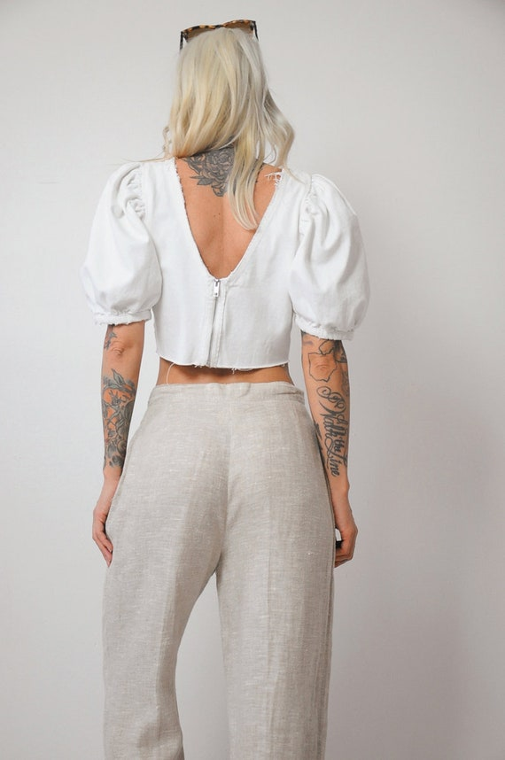 Linen Wide Leg Trousers - image 6