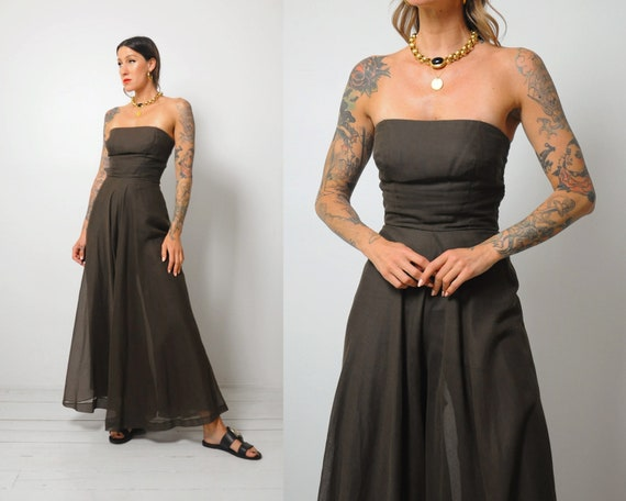 70's Coco Strapless Palazzo Jumpsuit