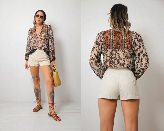 70's Minimal Ivory Shorts
