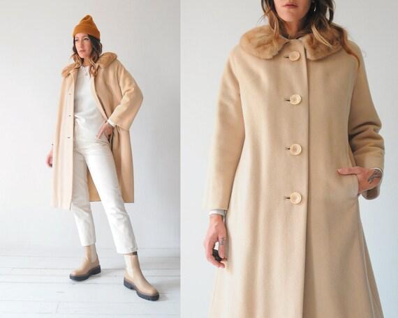 60's Vanilla Wool Coat