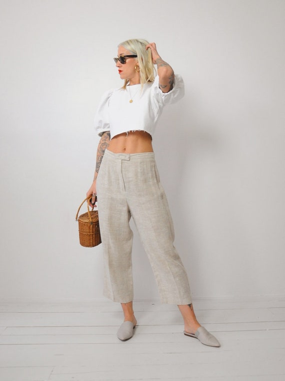 Linen Wide Leg Trousers - image 5