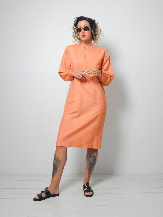 Halston Raw Silk Minimal Dress - image 2