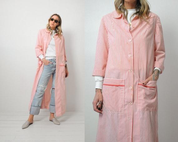60's Seersucker Robe Coat