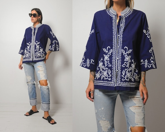 Nora Embroidered Floral Bouse