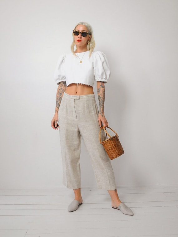 Linen Wide Leg Trousers - image 2