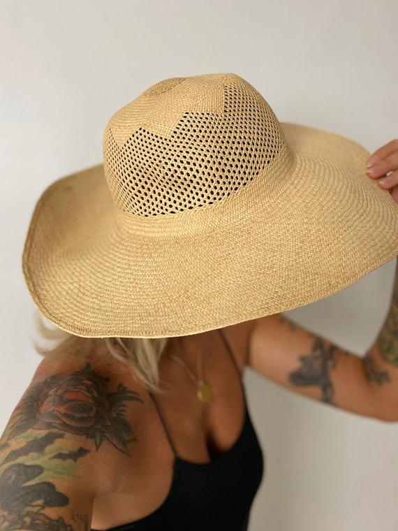 1940s Straw Wide Brim Hat - image 3