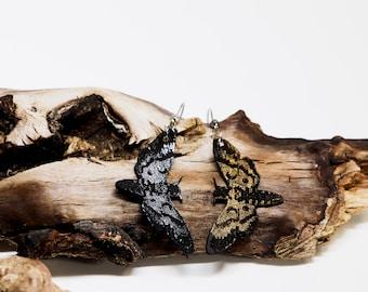 Gothic death's head hawk moth earring - from beet & owl