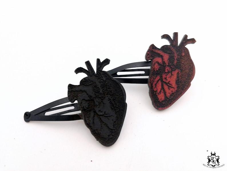 Anatomical Heart Hair Clip