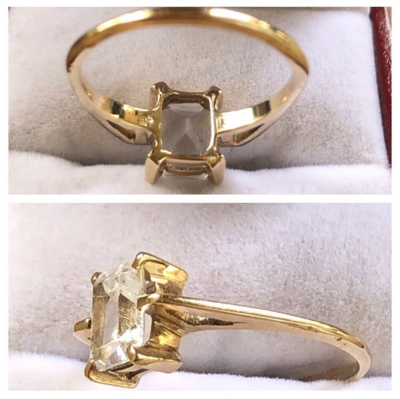 10K Yellow Gold Solitaire Ring - image 7