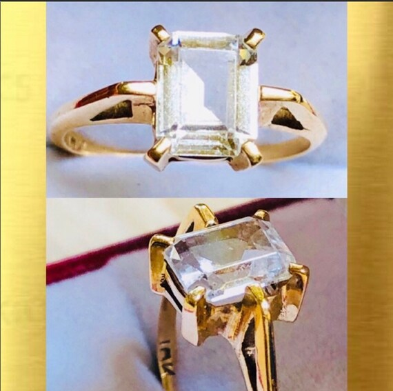 10K Yellow Gold Solitaire Ring - image 1