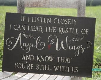 Guardian Angel Wings Home Decor Sign, In Memory Of Wall Art Gift