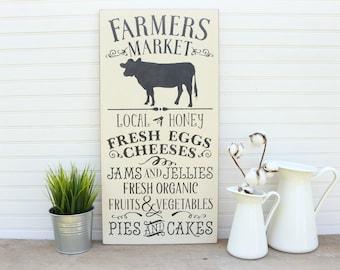 Farmers Market Sign, Farmhouse Decor, Farmhouse Sign, Rustic Farmhouse Wall Decor