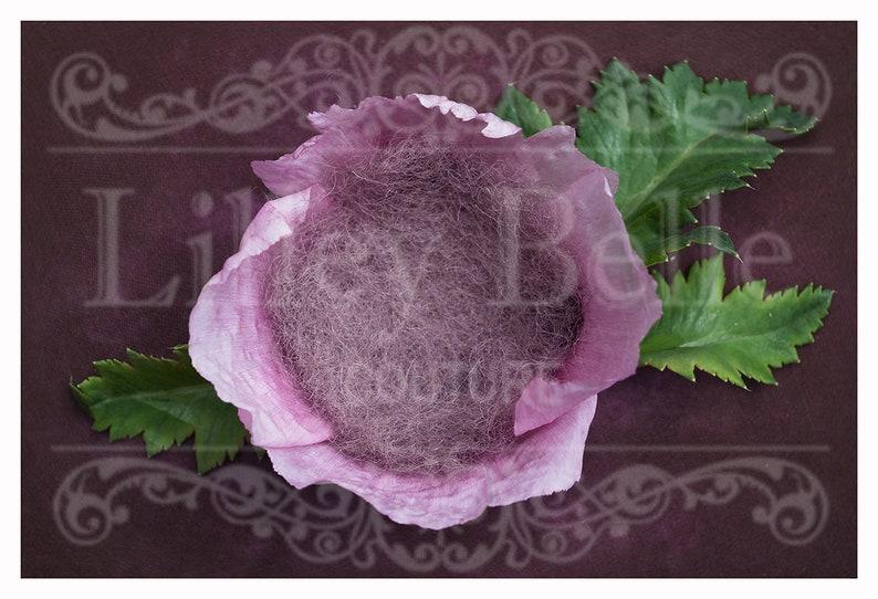 Poppy Nest with Textured Backdrop Overlay Digital Backdrop Photography Prop Digital Newborn Prop Digital Background Girl Prop