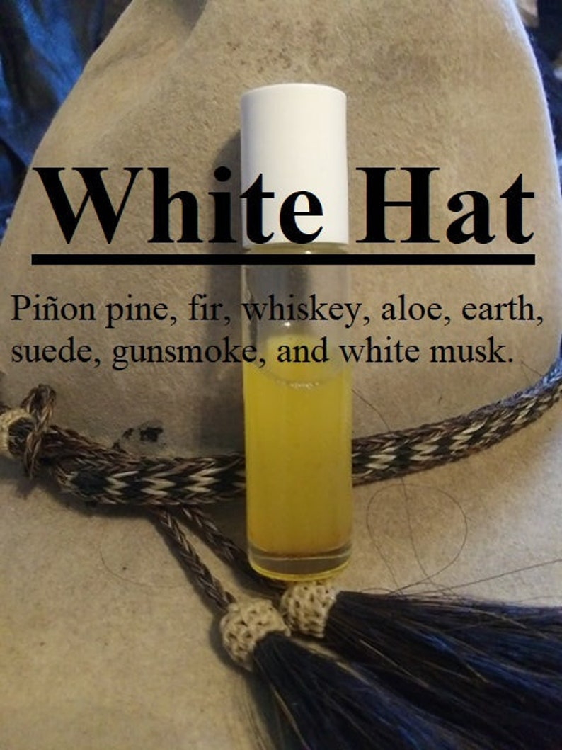 White Hat fragrance Pinyon pine fir whiskey aloe earth image 0