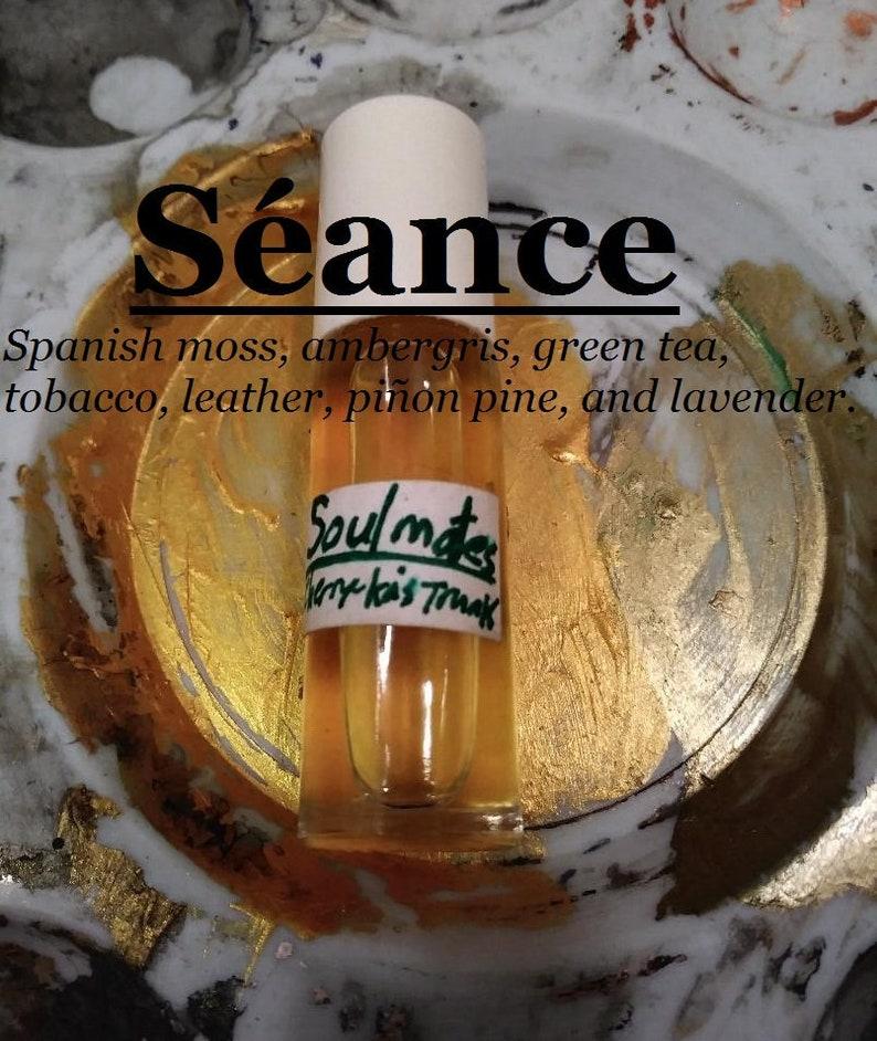 Séance fragrance Spanish moss ambergris green tea tobacco image 0
