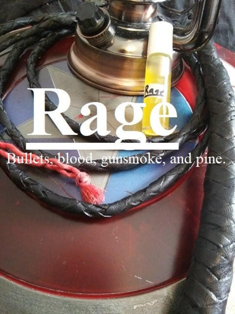 Rage fragrance Bullets blood gunsmoke and pine wood boxes image 0