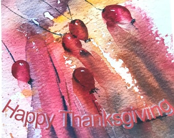 Rosehip Happy Thanksgiving Cards a set of 4 Notecards