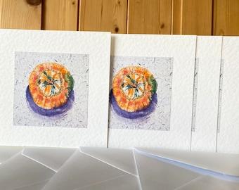 Handmade Watercolour Pumpkin Cards