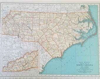 North Carolina World Map.North Carolina Map Etsy