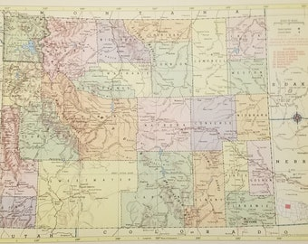 Cody Wyoming Map Etsy