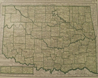 Oklahoma city map | Etsy