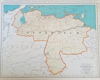 Orinoco River Map Etsy