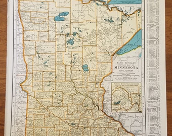 1940s map minnesota | Etsy
