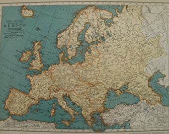 1743 Europe Map Print Vintage Map Art Antique Map Wall Art