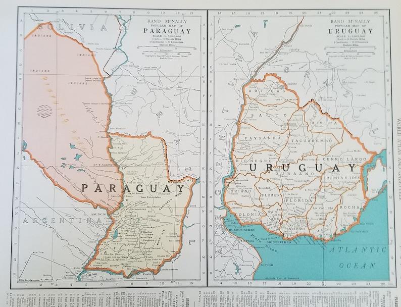Carte Amerique Latine Uruguay.Uruguay Carte Paraguay Carte Argentine Chili Carte Buenos Etsy