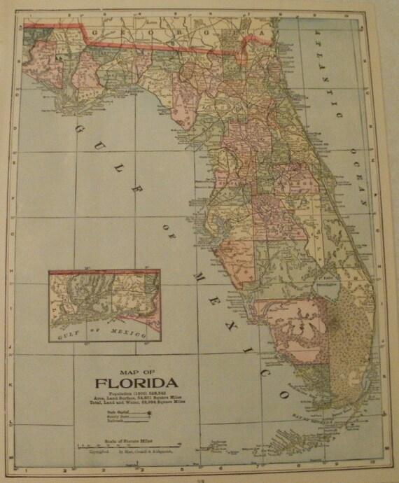 Map Of Florida And Alabama.Alabama Mapflorida Mapusa Map Artplace On The World Map2 Etsy