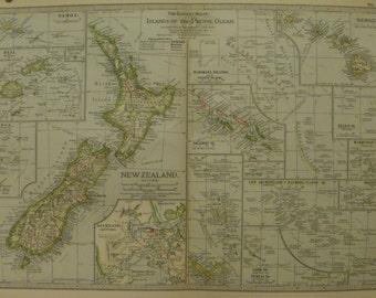 Vintage hawaii map etsy samoa mapfiji maptonga mapnew zealand maphawaii map gumiabroncs Images