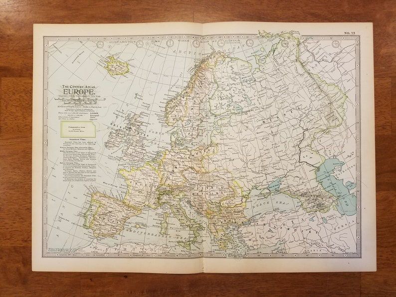 Map Of England France And Spain.Europe Mapmap Of Europeengland Norway Iceland France Spain Etsy
