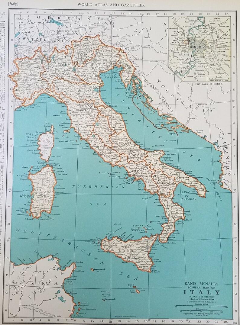 Italy Mapswitzerland Mapneuchatel Lake Geneva Zurich Sicily Etsy