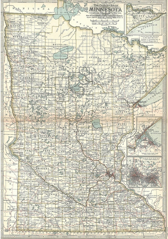 Minnesota Map 1897,Minneapolis Saint Paul St Paul Duluth Grand Rapids,United on new hampshire united states map, minneapolis map, nevada united states map, wage statistics united states map,