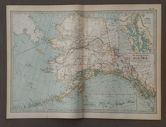 Alaska Map Alaska State MapAnchorage Palmer Wasilla   Etsy