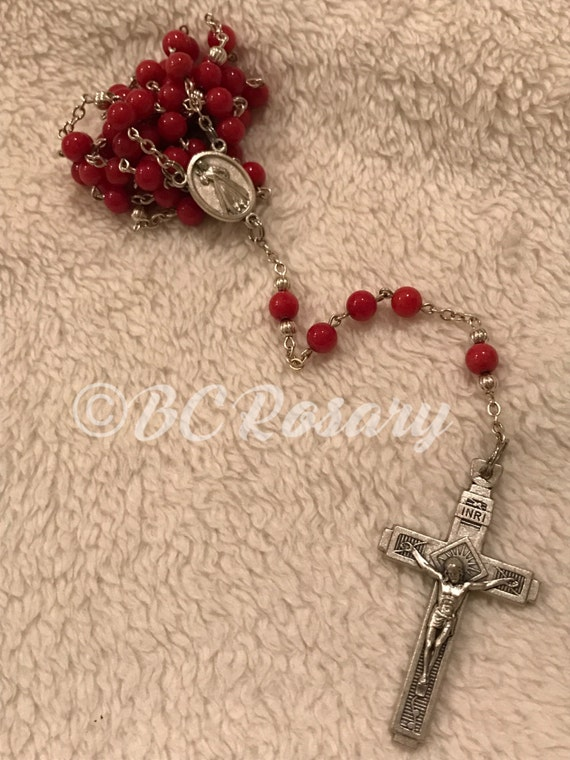 Catholic Cherry Divine Mercy Rosary