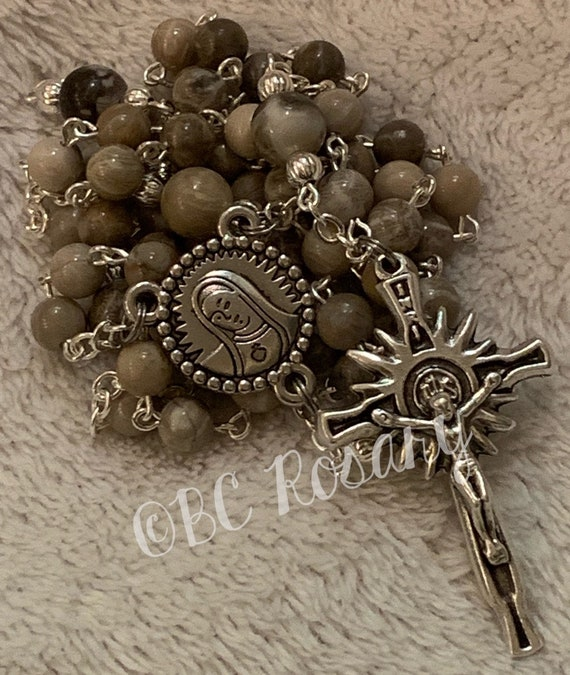 Catholic Fossil Coral Rosary