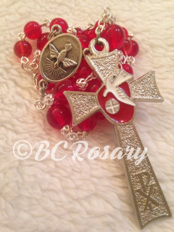 Anglican Red Holy Spirit Prayer Beads