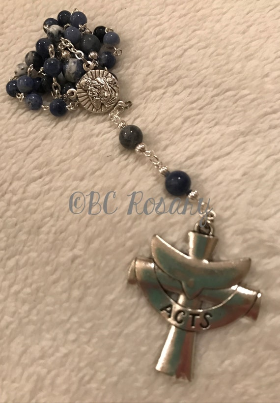 Anglican Blue Sodalite Prayer Beads