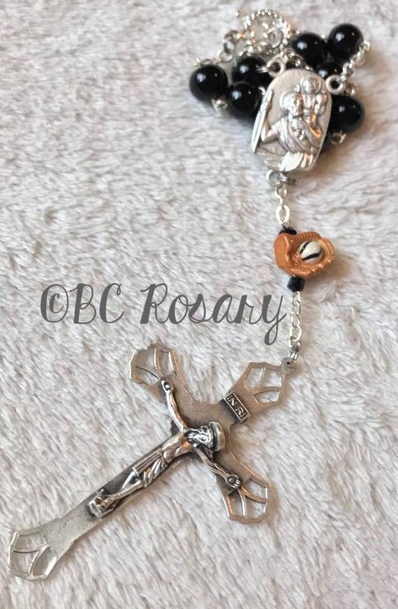 Catholic Saint Christopher Baseball Auto Rosary