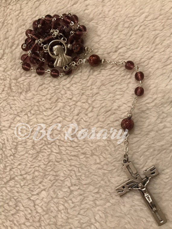 Catholic Glass Rosary