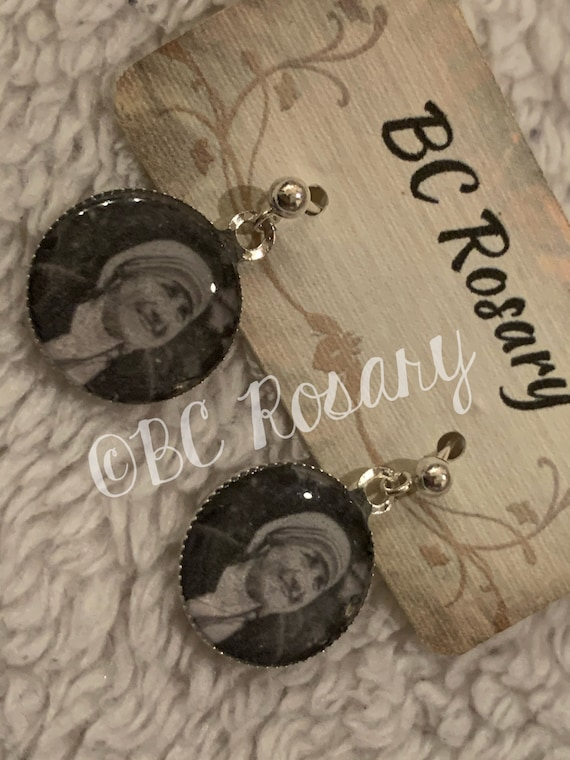 Saint Teresa of Calcutta stud Earrings