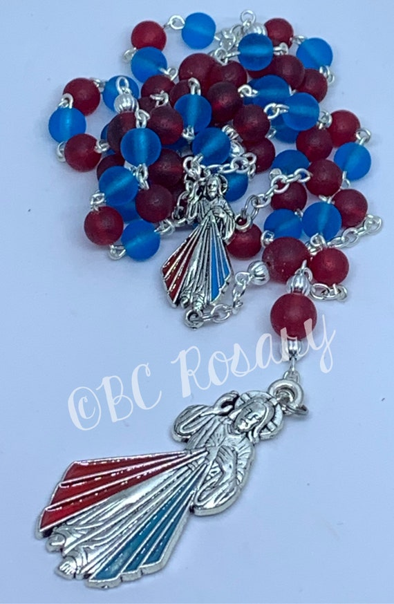 Catholic Recycled Glass Divine Mercy Rosary