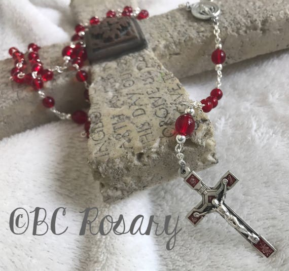 Catholic Red Rose Rosary