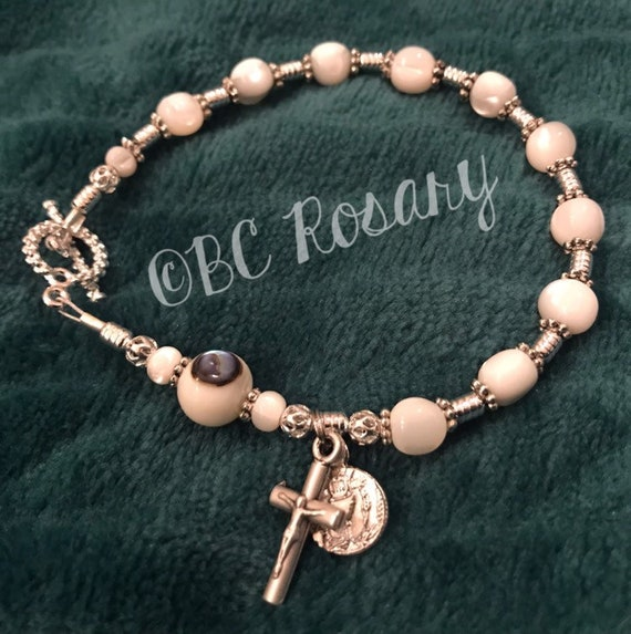 Troca Shell First Communion Girl's Rosary Bracelet