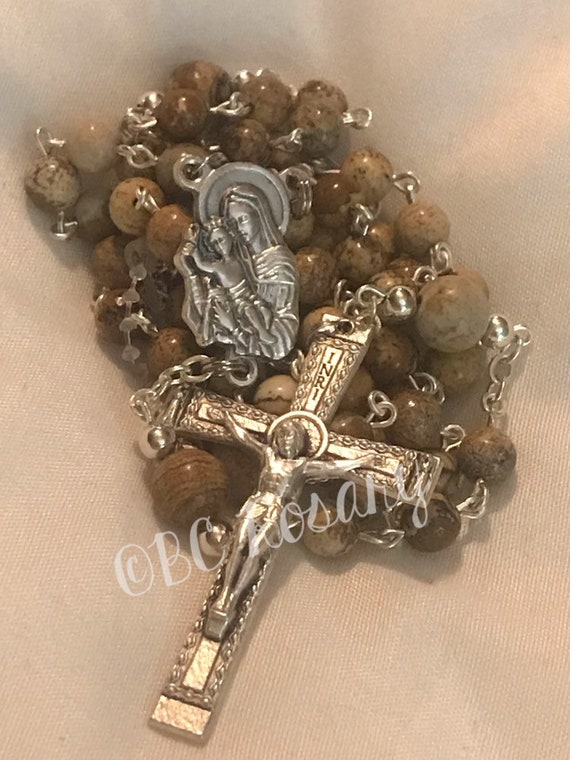 Catholic Picture Jasper Rosary