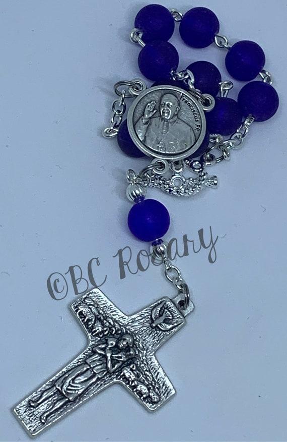 Catholic Pope Francis Auto Rosary